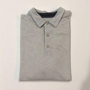 Tommy Bahama light grey polo shirt no pockets XL